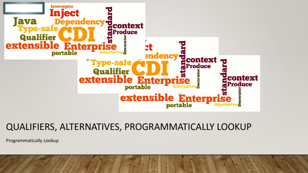 QUALIFIERS, ALTERNATIVES, PROGRAMMATICALLY LOOK...