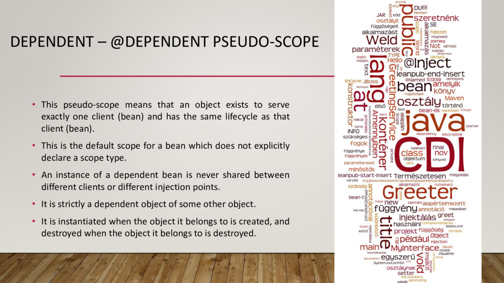 DEPENDENT – @DEPENDENT PSEUDO-SCOPE • This pseu...
