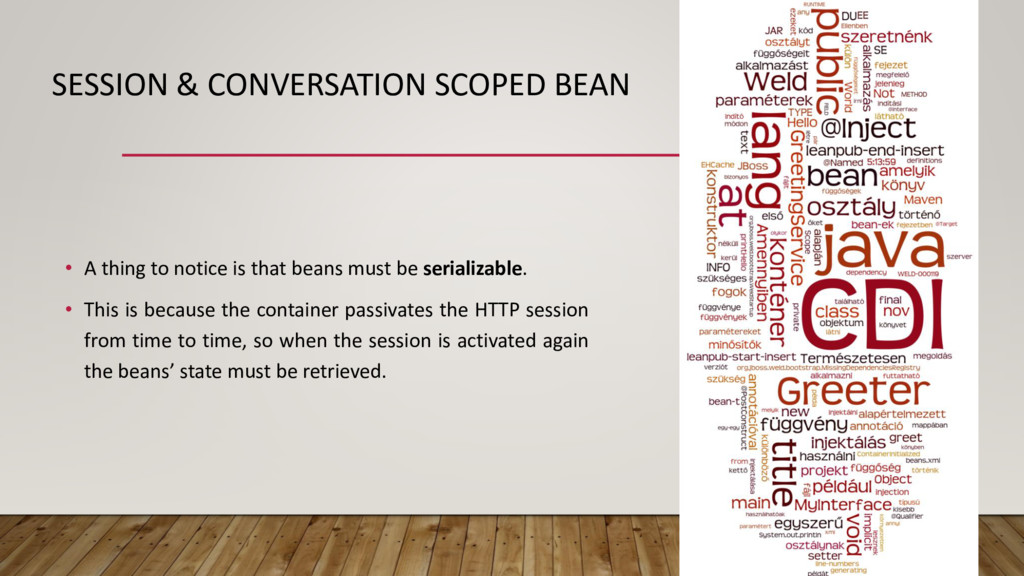 SESSION & CONVERSATION SCOPED BEAN • A thing to...