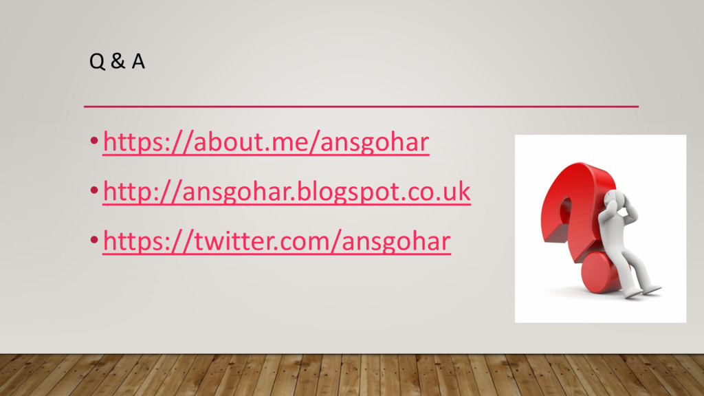 Q & A •https://about.me/ansgohar •http://ansgoh...
