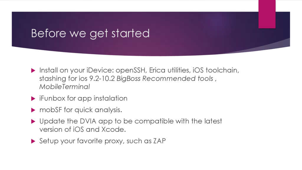 Before we get started u Install on your iDevice...