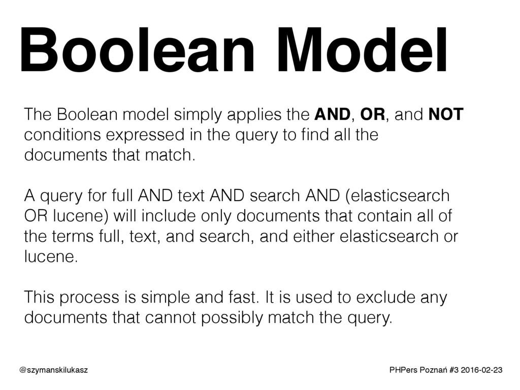 PHPers Poznań #3 2016-02-23 Boolean Model @szym...