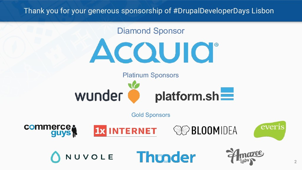 Thank you for your generous sponsorship of #Dru...
