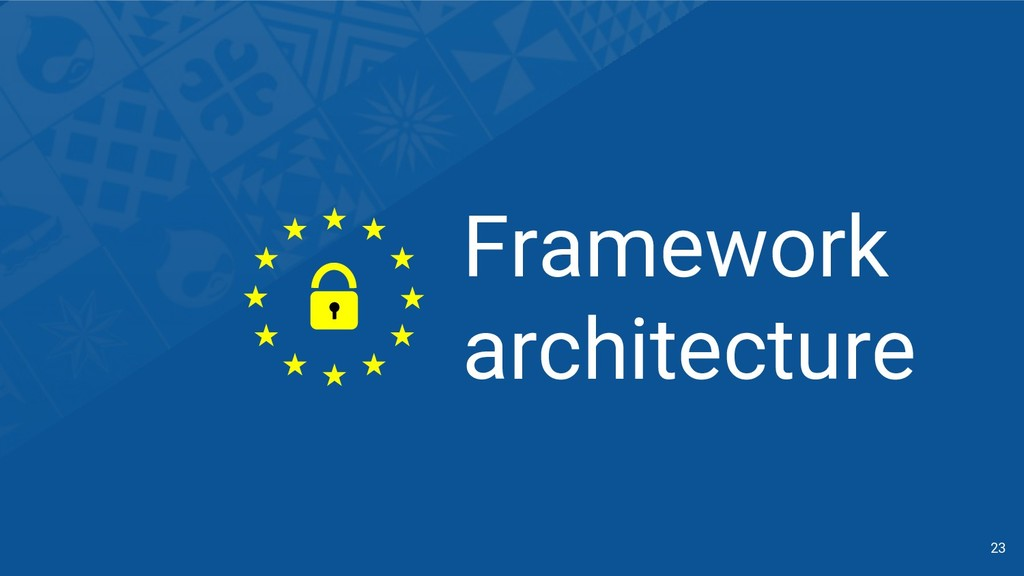 Framework architecture 23