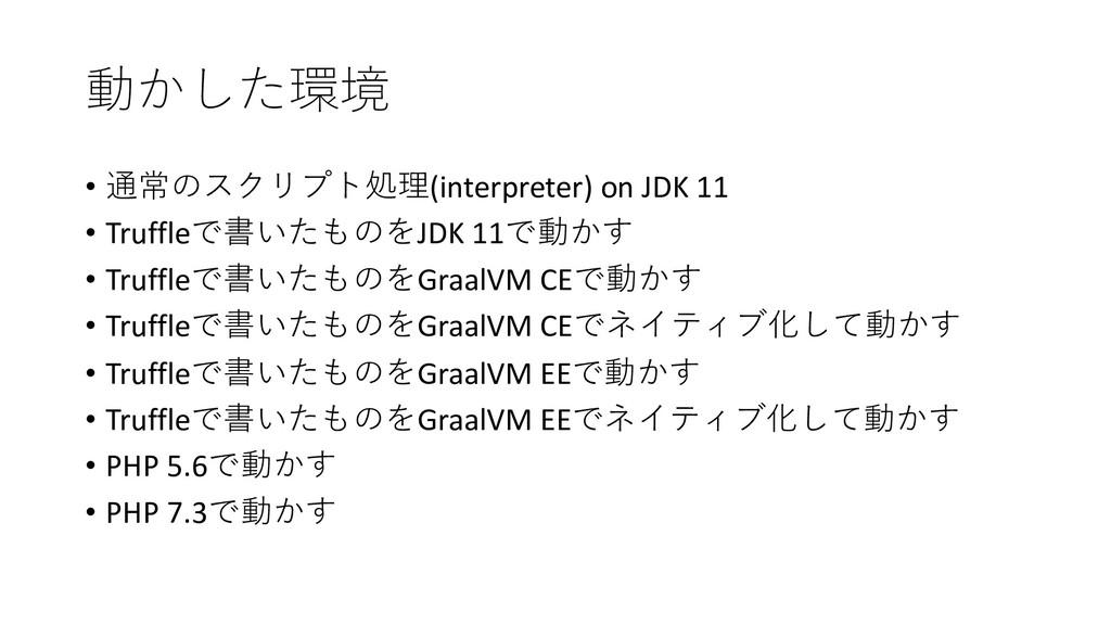 • (interpreter) on JDK 11 • Tr...