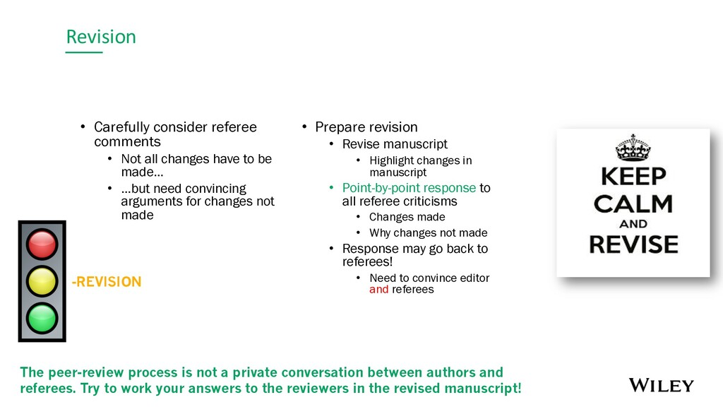 Revision -REVISION • Carefully consider referee...