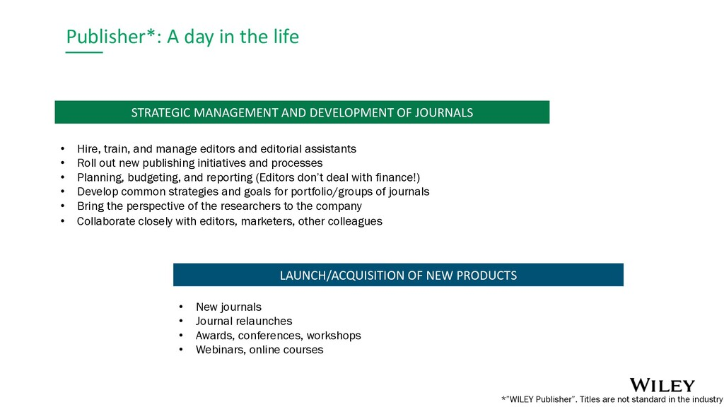 Publisher*: A day in the life LAUNCH/ACQUISITIO...