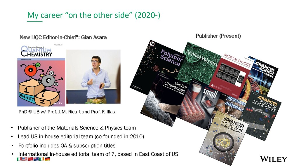 """My career """"on the other side"""" (2020-) New IJQC ..."""