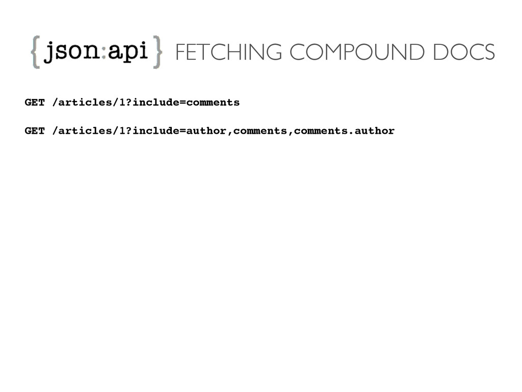 FETCHING COMPOUND DOCS GET /articles/1?include=...