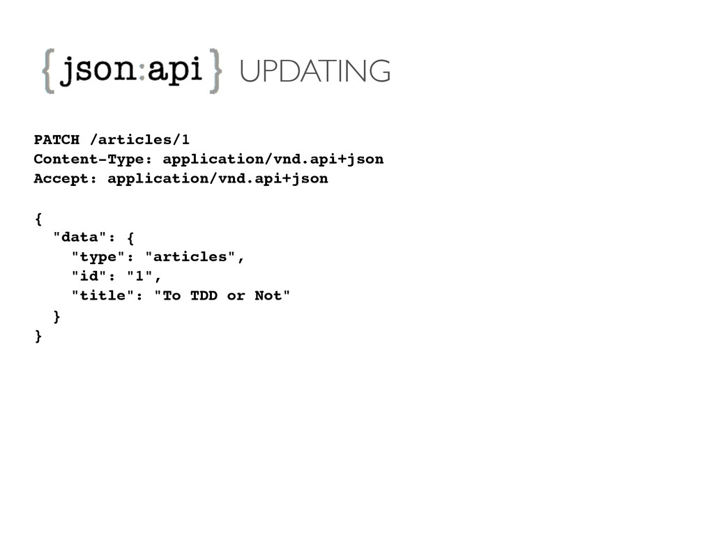 UPDATING PATCH /articles/1! Content-Type: appli...