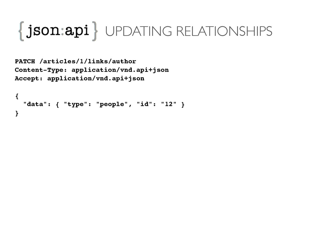 UPDATING RELATIONSHIPS PATCH /articles/1/links/...