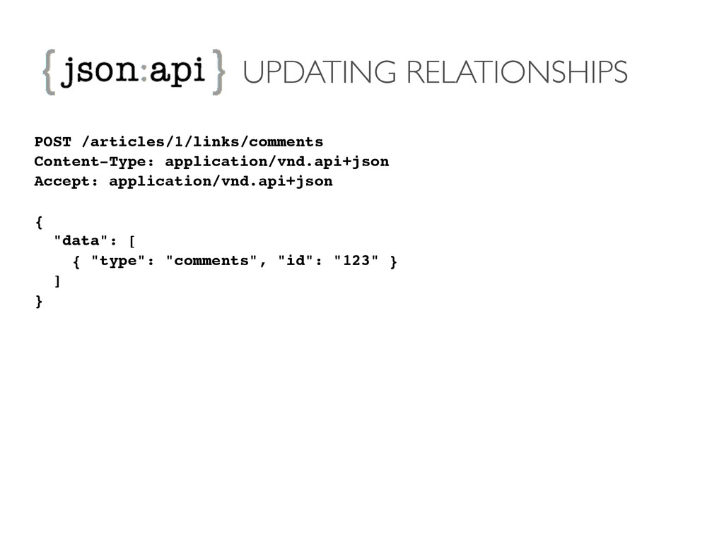 UPDATING RELATIONSHIPS POST /articles/1/links/c...