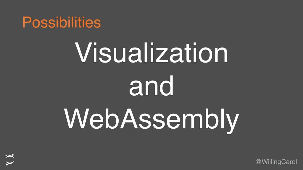 Visualization and WebAssembly @WillingCarol Pos...
