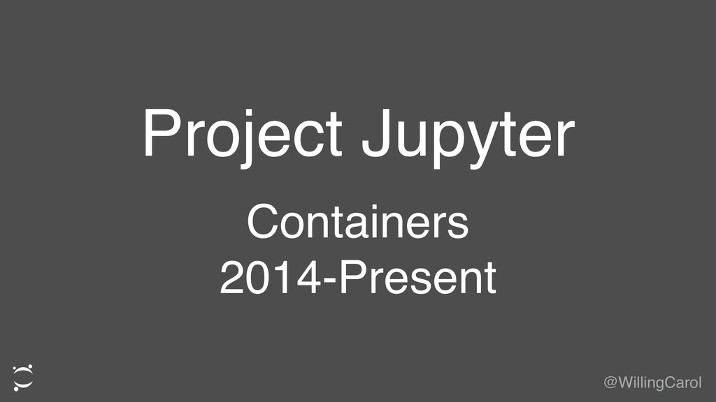 Project Jupyter Containers 2014-Present @Willin...