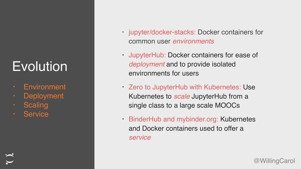 Evolution • jupyter/docker-stacks: Docker conta...