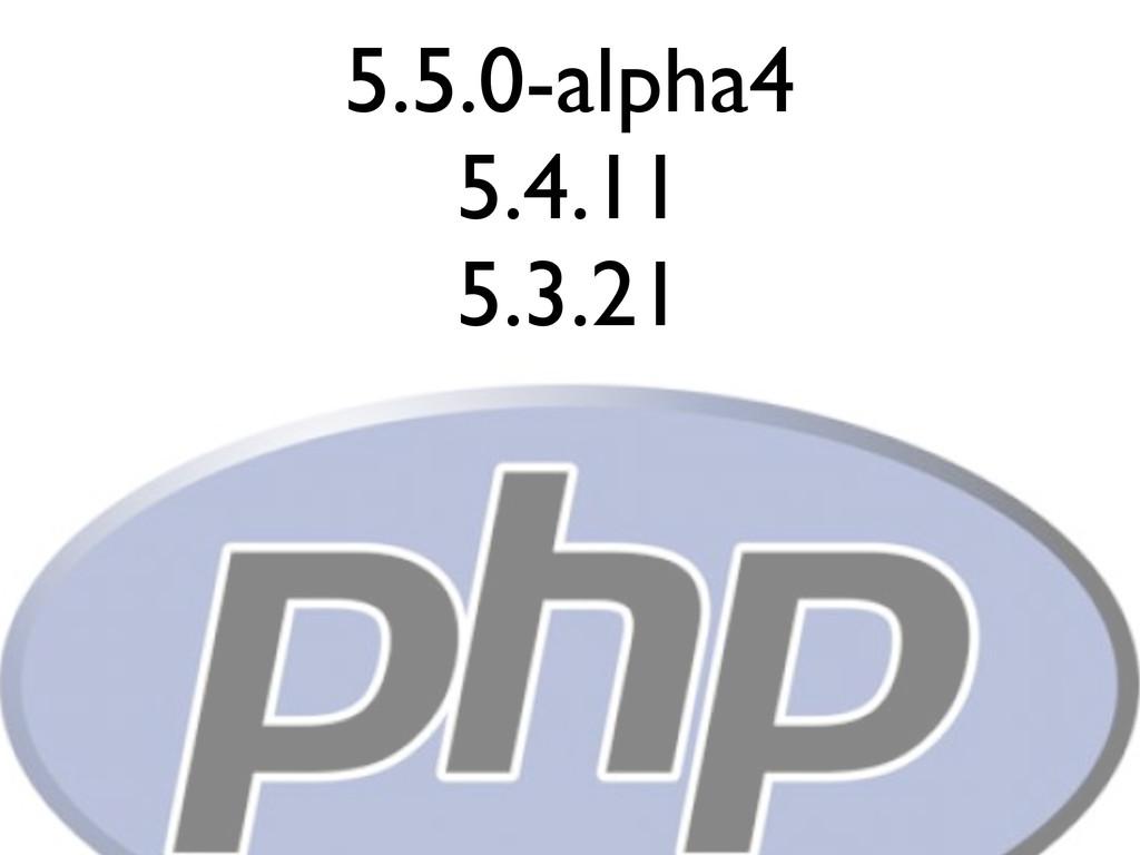 5.5.0-alpha4 5.4.11 5.3.21