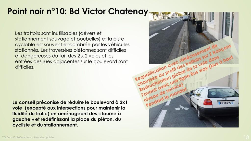 Point noir n°10: Bd Victor Chatenay Les trottoi...