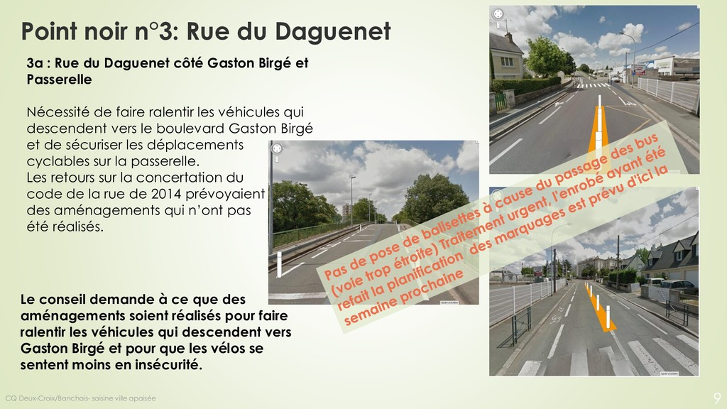 Point noir n°3: Rue du Daguenet Le conseil dema...