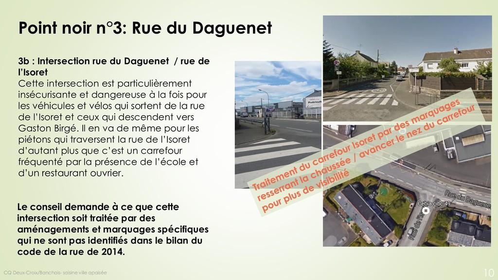 3b : Intersection rue du Daguenet / rue de l'Is...