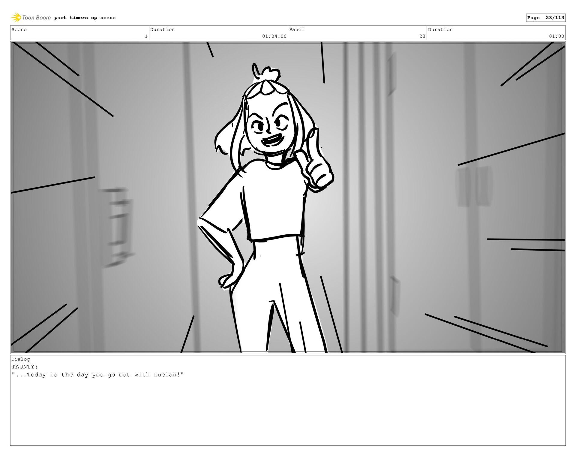 Scene 1 Duration 26:00 Panel 22 Duration 01:00 ...