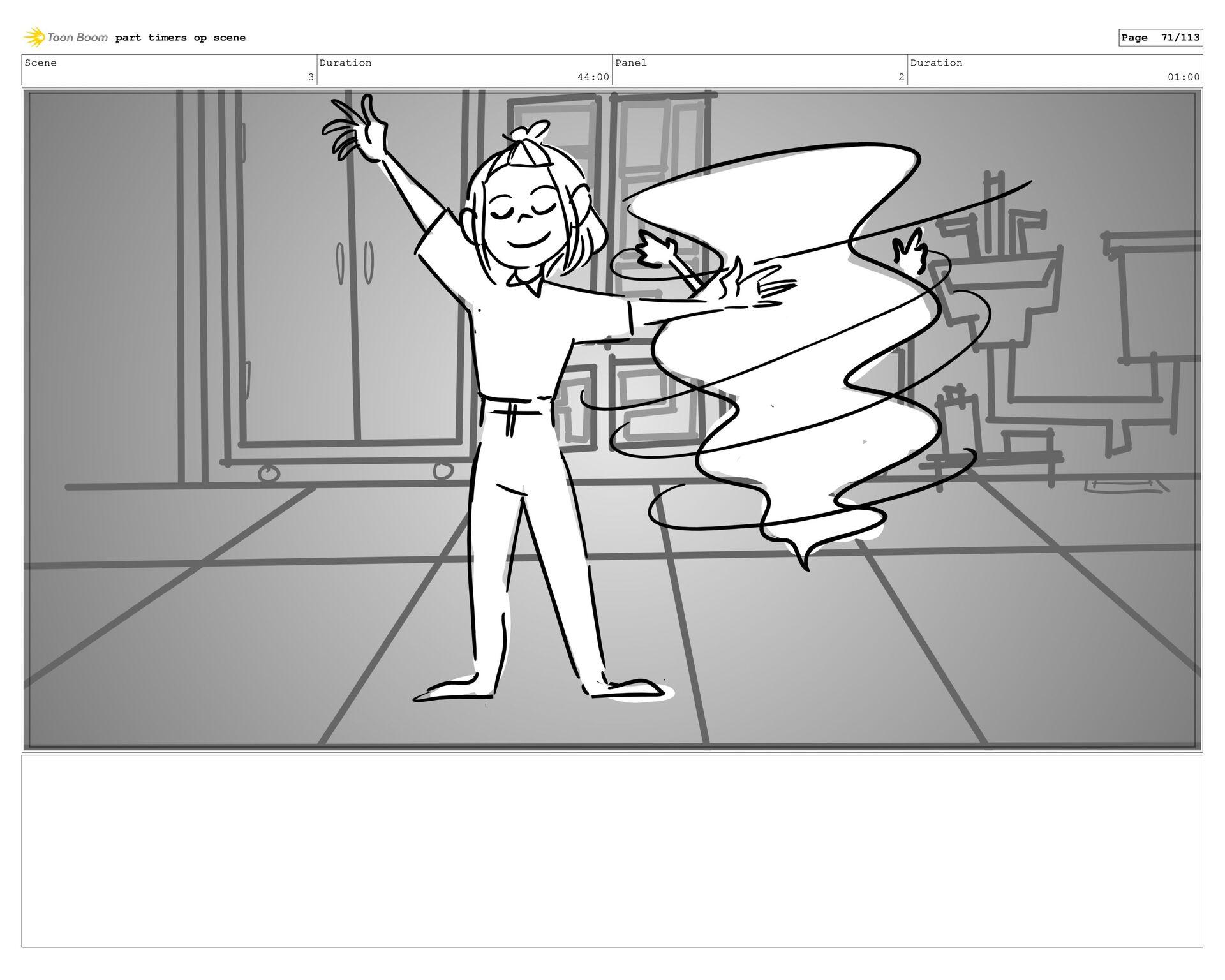 Scene 3 Duration 44:00 Panel 39 Duration 01:00 ...