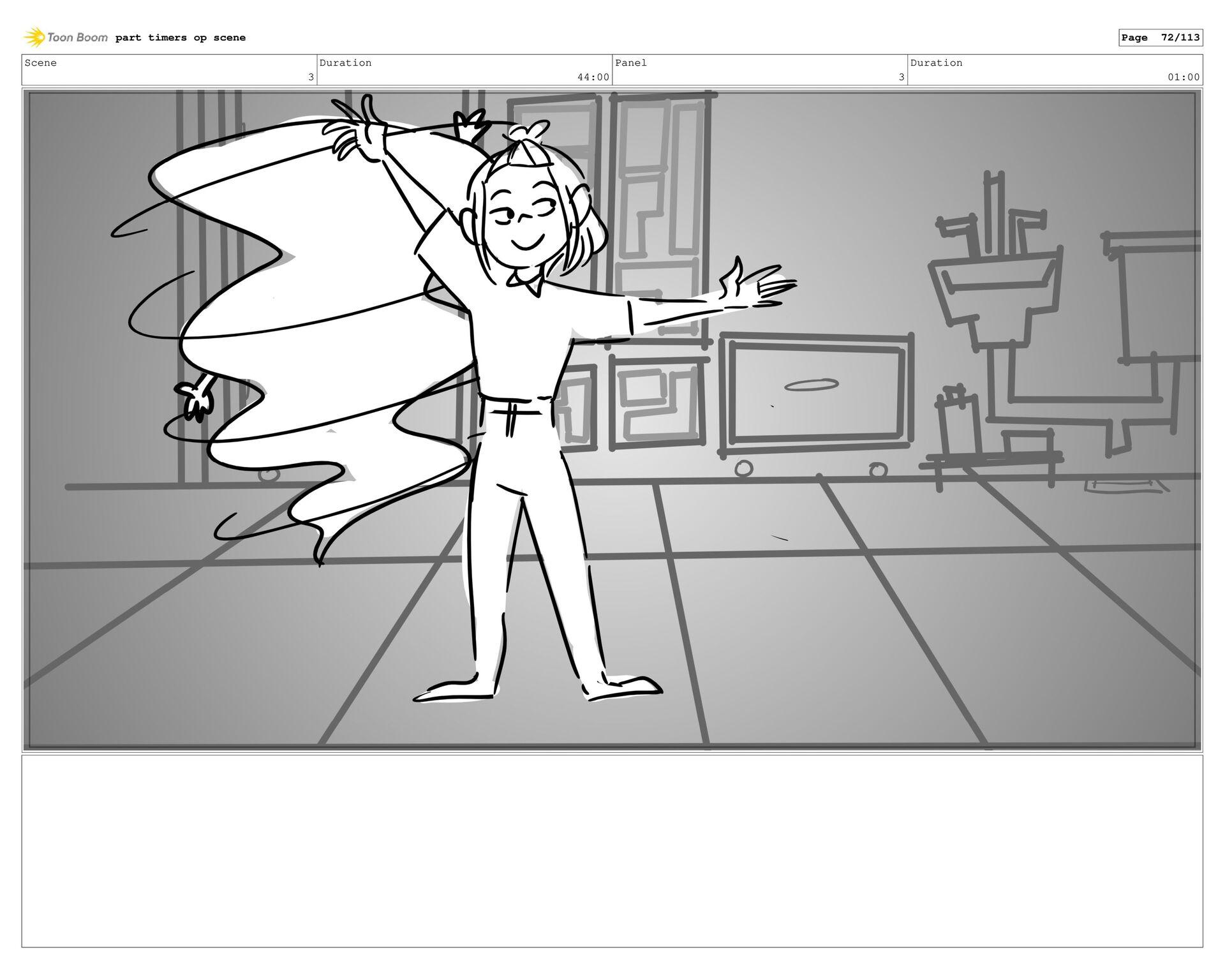 Scene 3 Duration 44:00 Panel 40 Duration 01:00 ...
