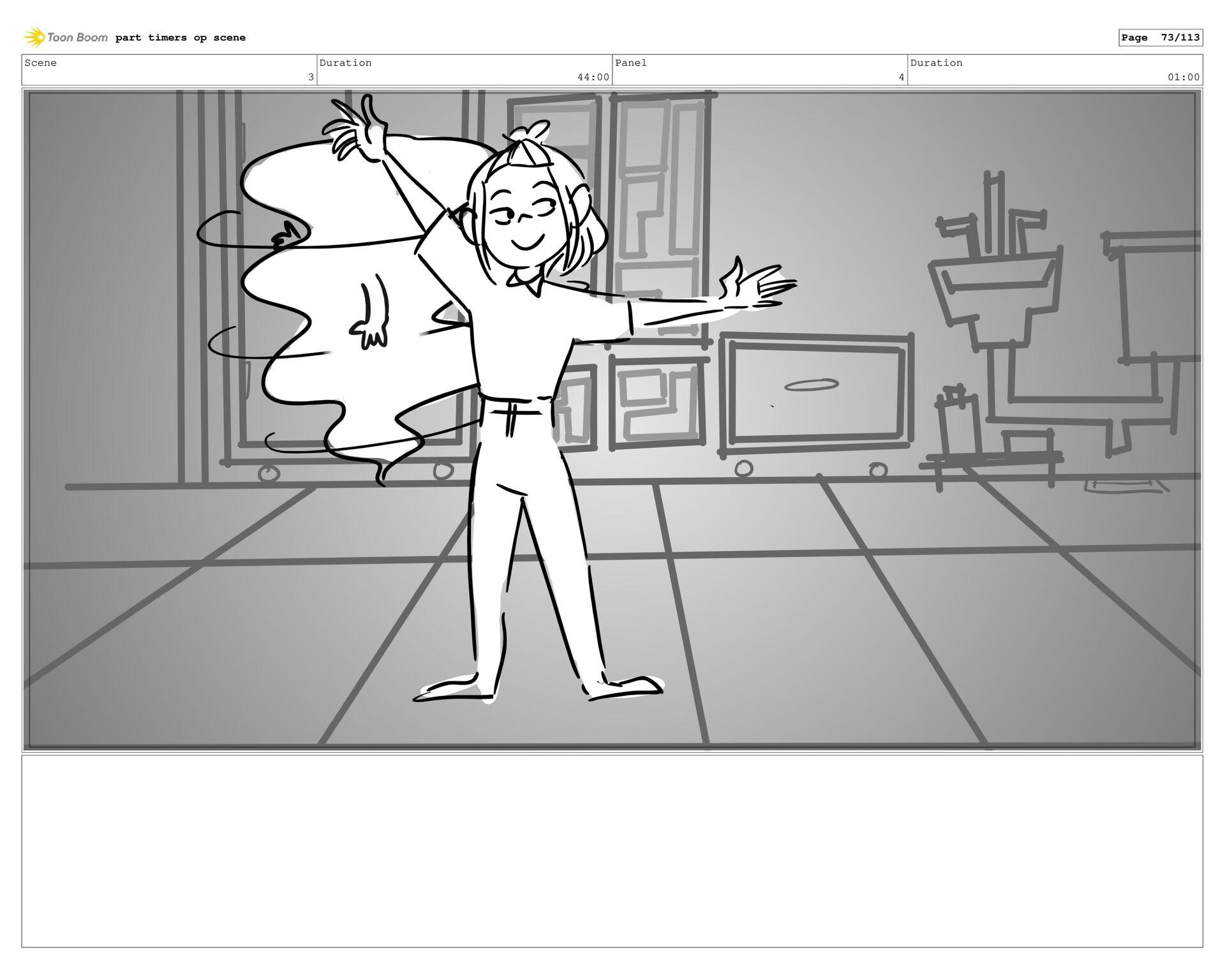 Scene 3 Duration 44:00 Panel 41 Duration 01:00 ...