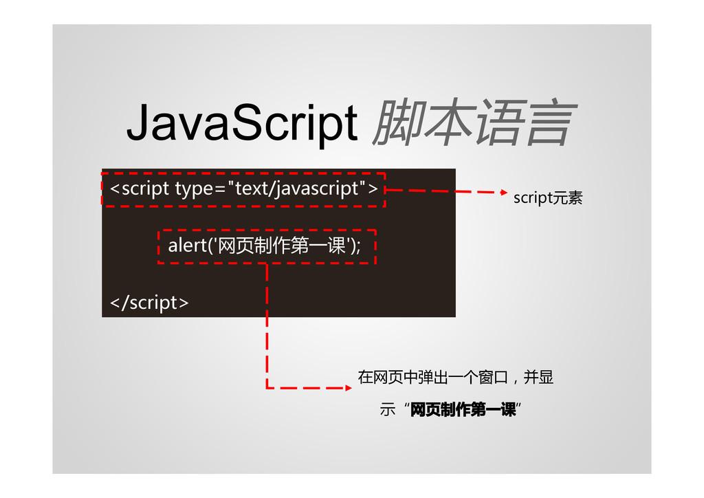 "JavaScript 脚本语言 <script type=""text/javascript"">..."