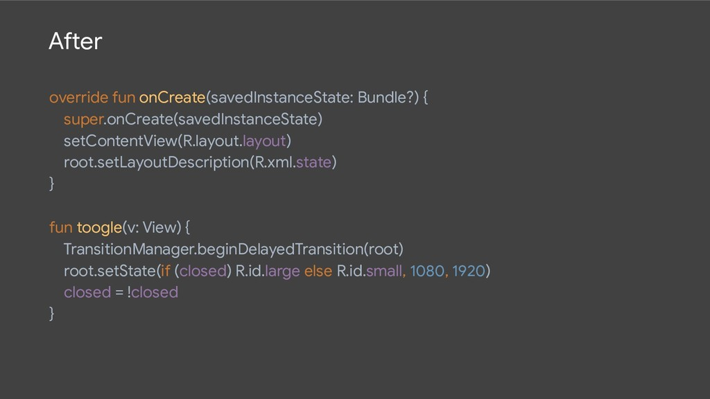 After override fun onCreate(savedInstanceState:...