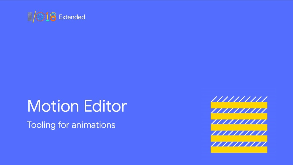 Motion Editor Tooling for animations