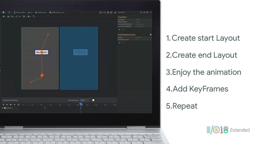 1.Create start Layout  2.Create end Layout  3.E...