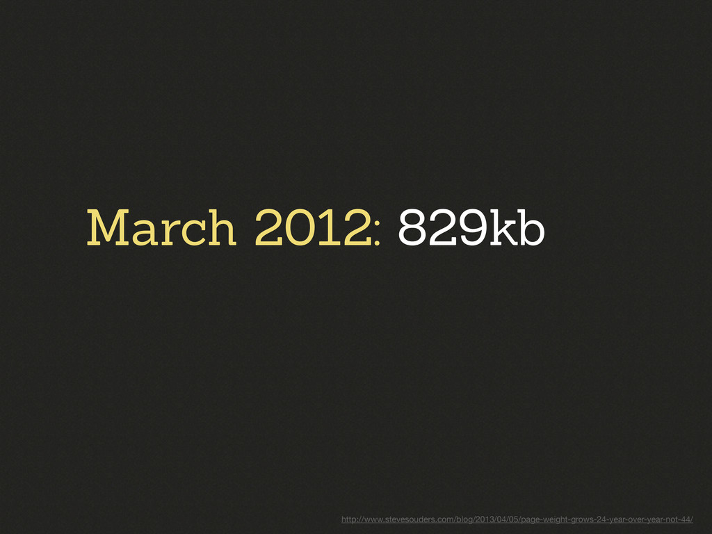 March 2012: 829kb http://www.stevesouders.com/b...