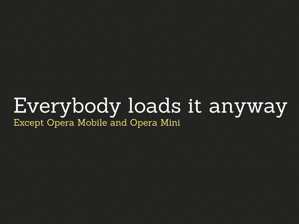 Except Opera Mobile and Opera Mini Everybody lo...