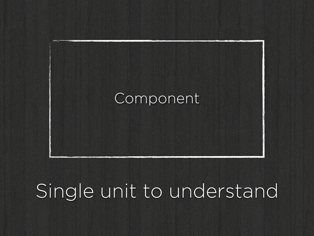 Component Single unit to understand