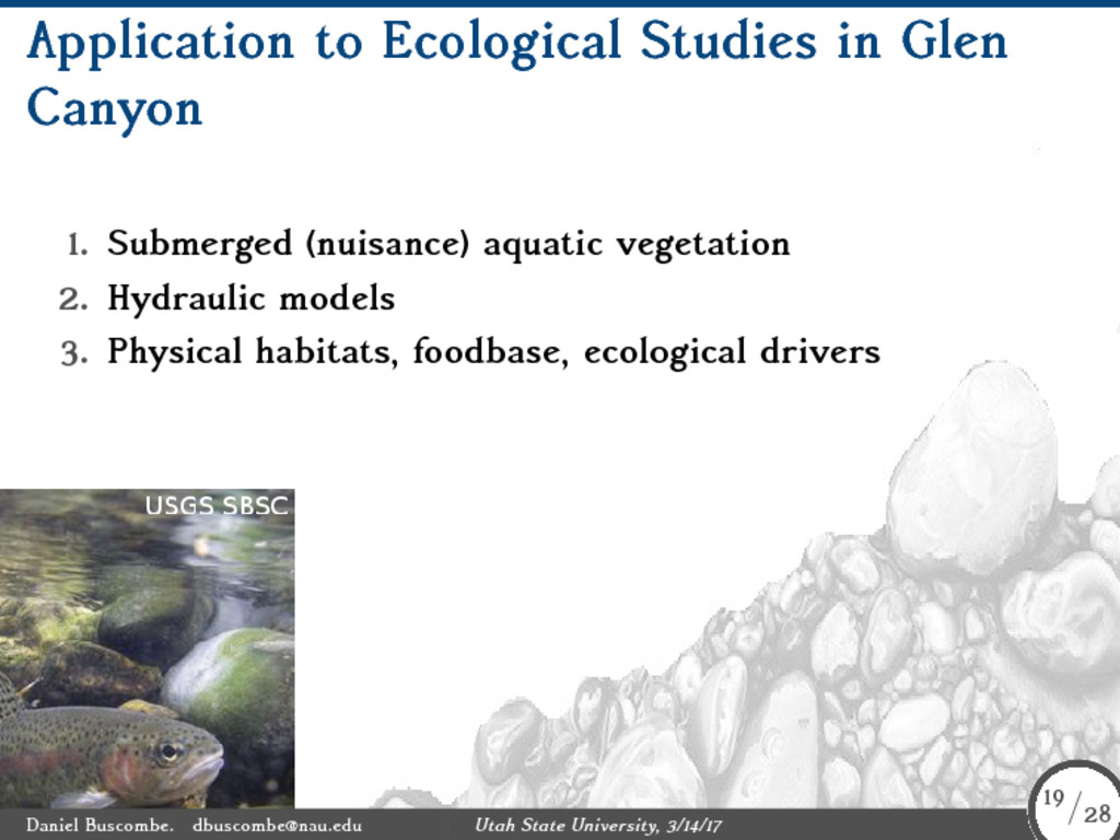 Application to Ecological Studies in Glen Canyo...
