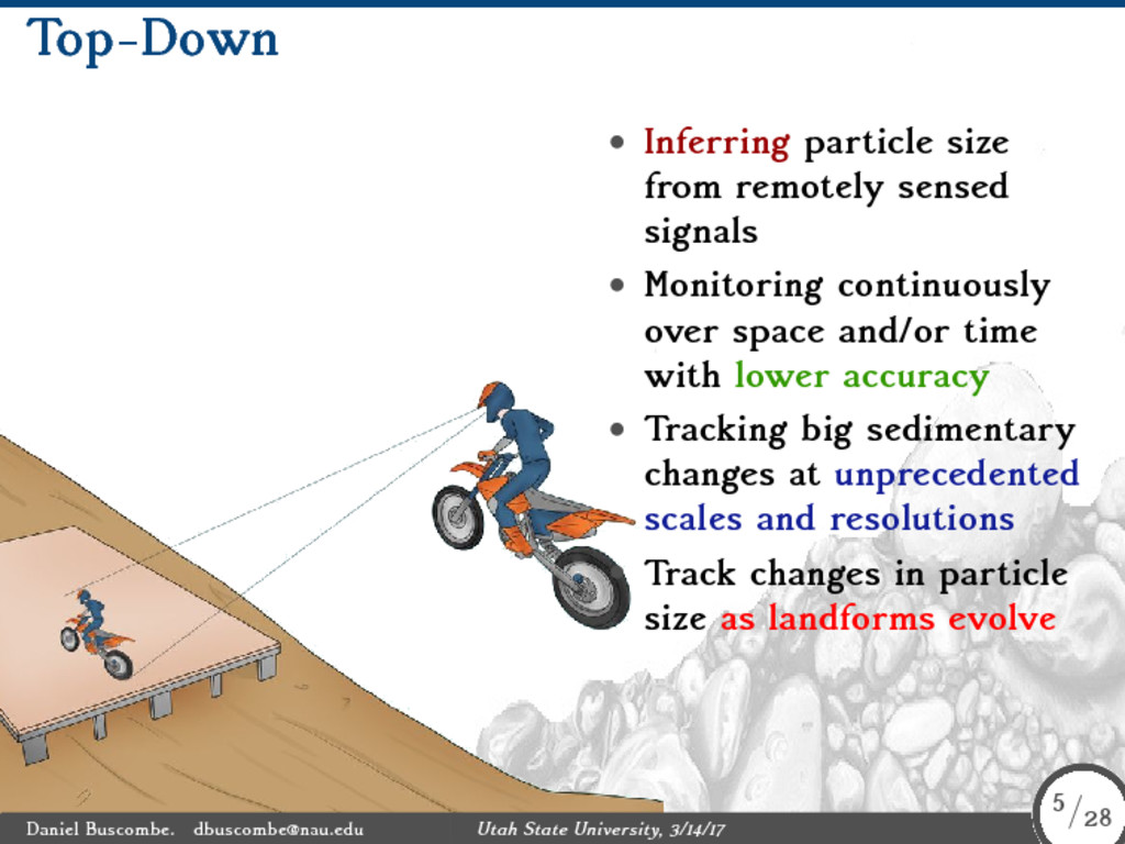 Top-Down • Inferring particle size from remotel...