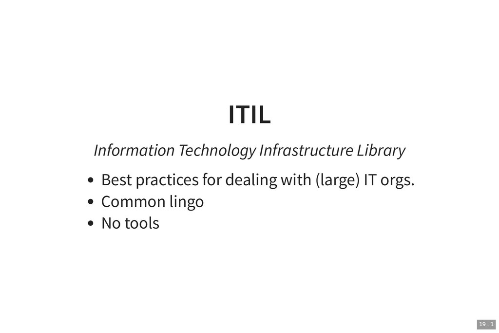 ITIL ITIL Information Technology Infrastructure...