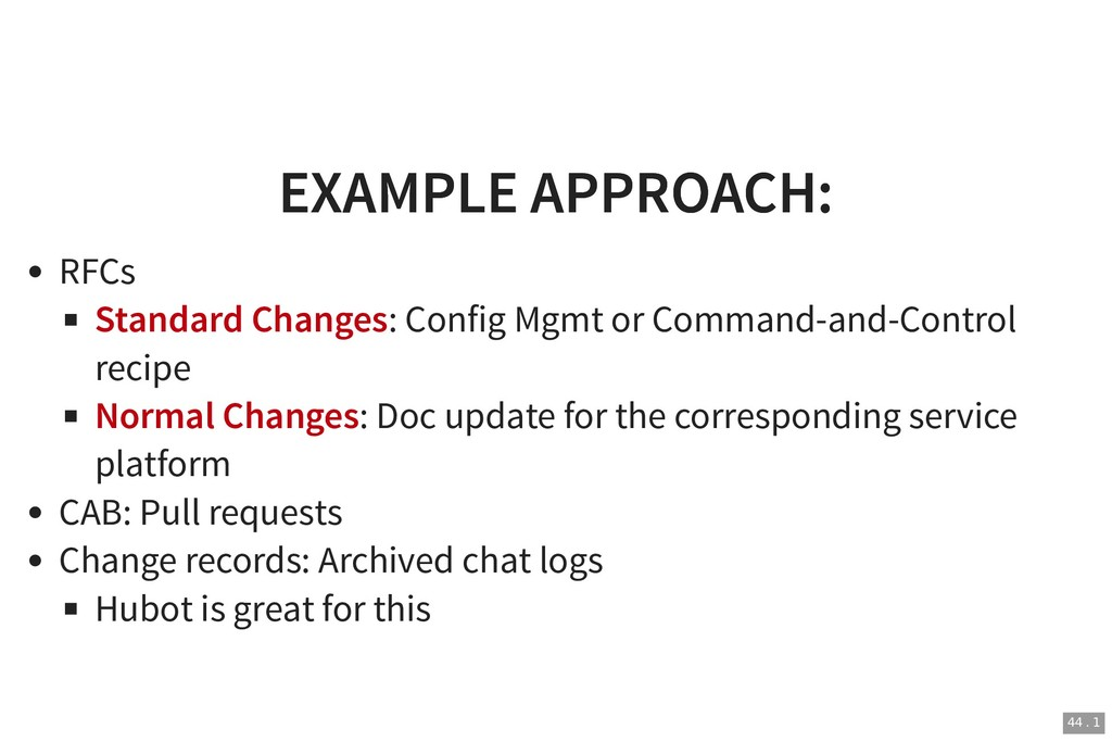 EXAMPLE APPROACH: EXAMPLE APPROACH: RFCs Standa...