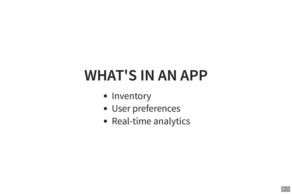 WHAT'S IN AN APP WHAT'S IN AN APP Inventory Use...
