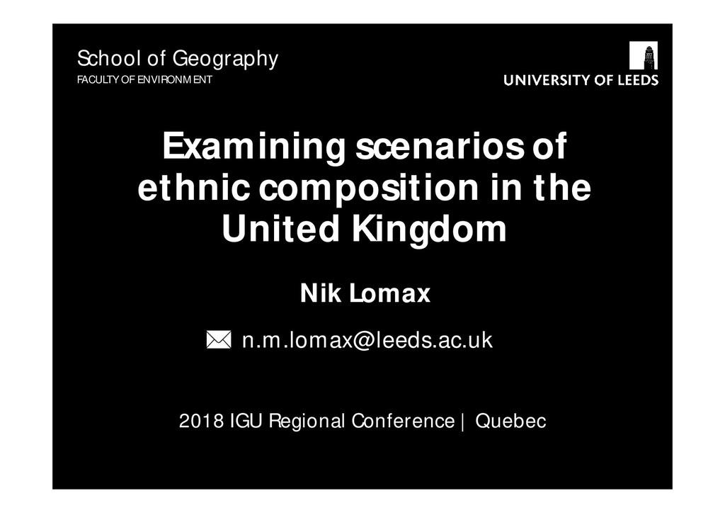 2018 IGU Regional Conference | Quebec Examining...