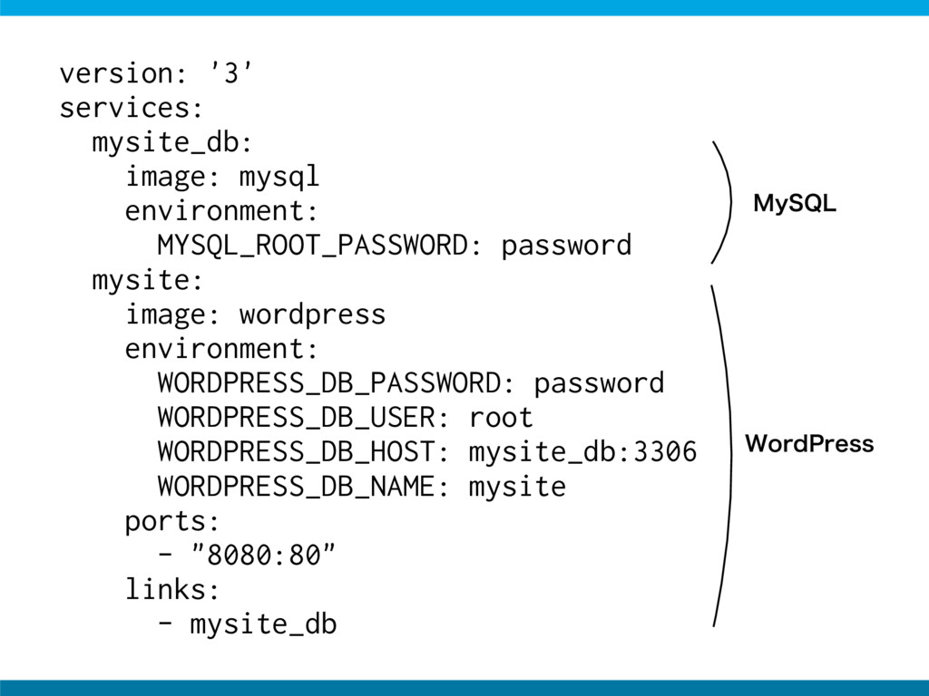 version: '3' services: mysite_db: image: mysql ...