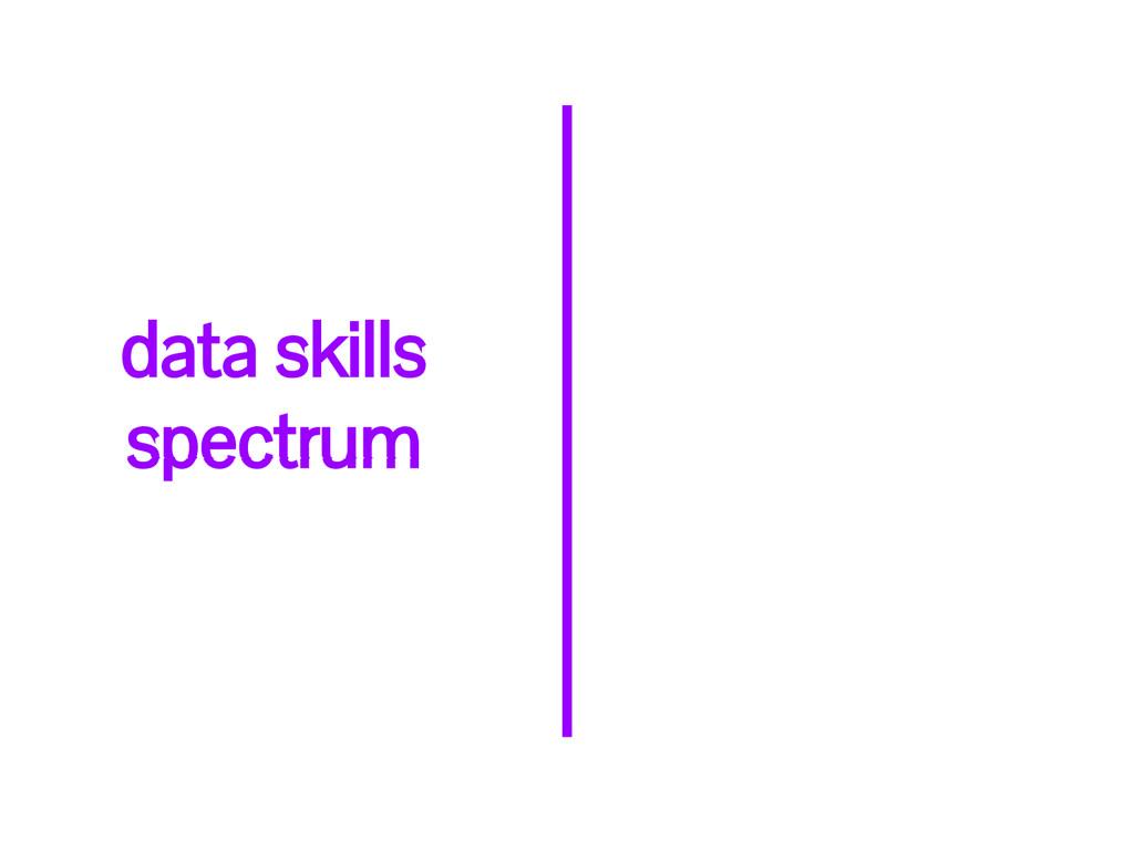 data skills spectrum