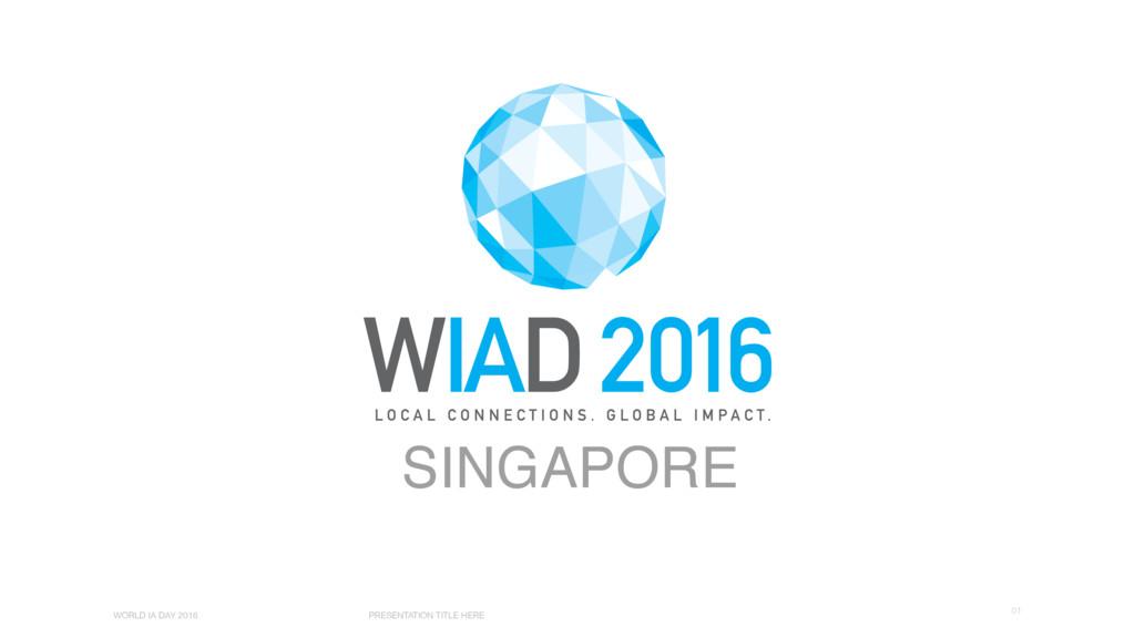 01 WORLD IA DAY 2016 PRESENTATION TITLE HERE SI...