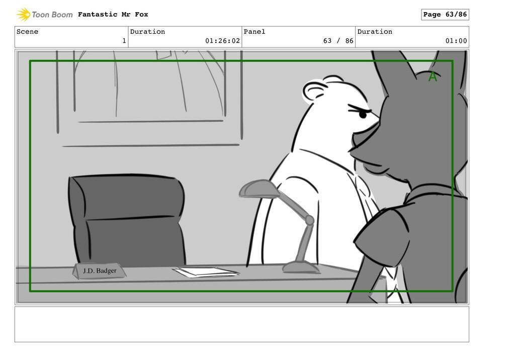 Scene 1 Duration 01:26:02 Panel 63 / 86 Duratio...