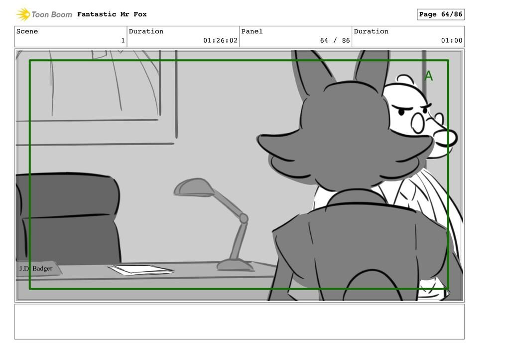 Scene 1 Duration 01:26:02 Panel 64 / 86 Duratio...