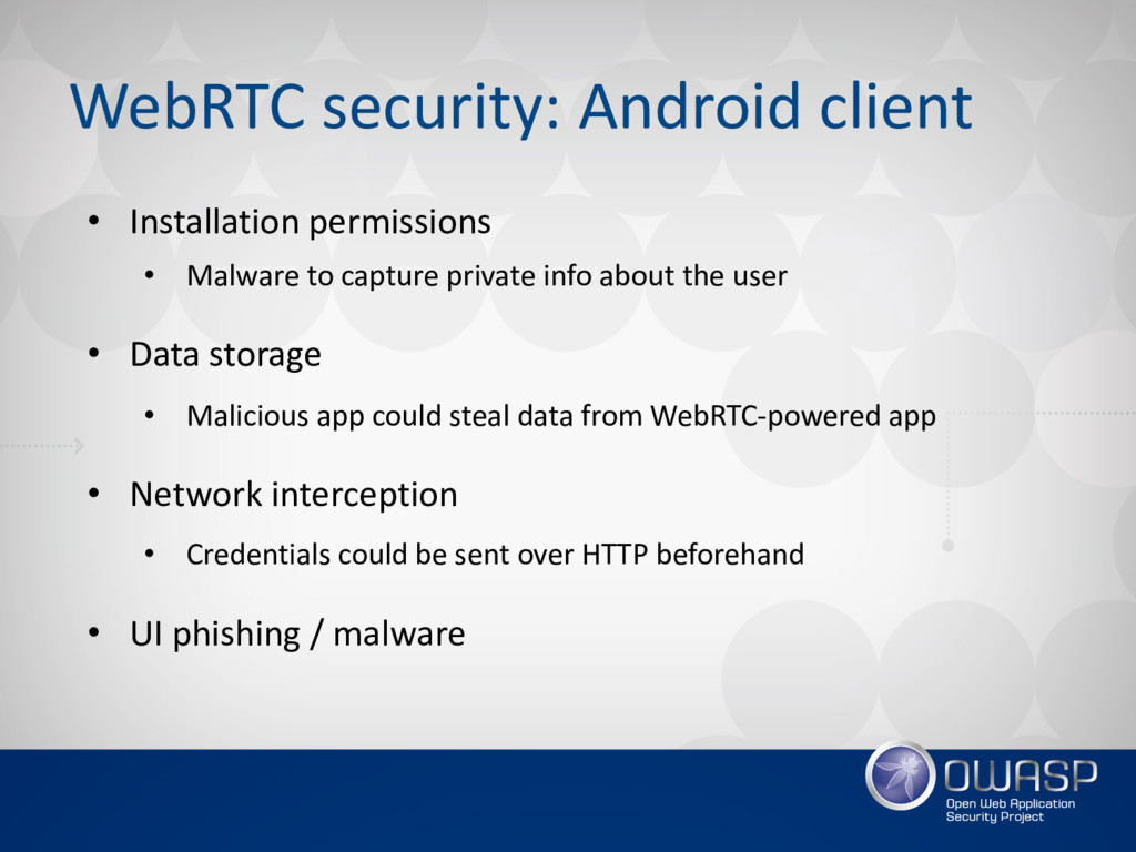 WebRTC security: Android client • Installation ...