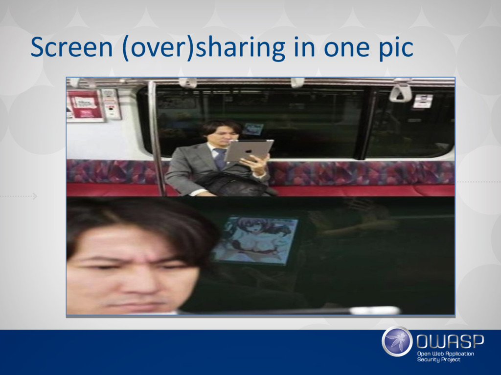 Screen (over)sharing in one pic