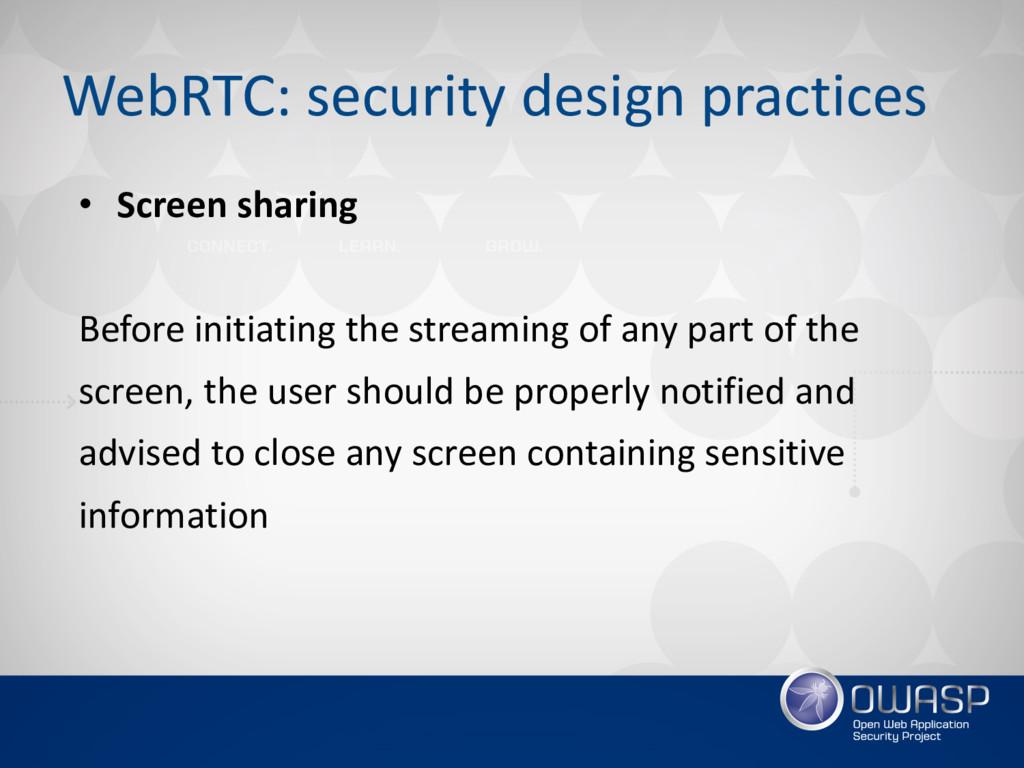 WebRTC: security design practices • Screen shar...