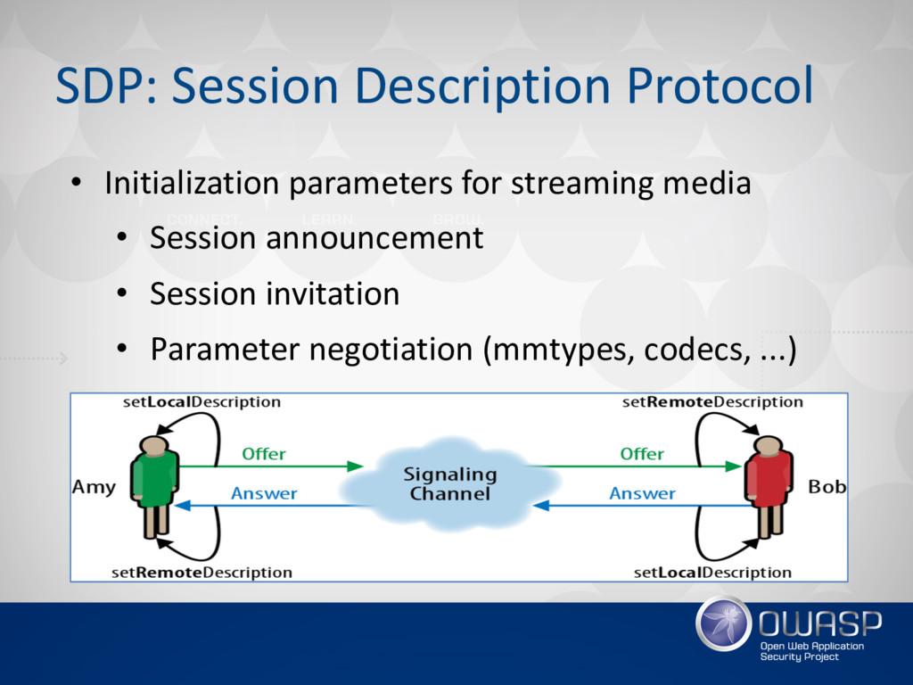 SDP: Session Description Protocol • Initializat...