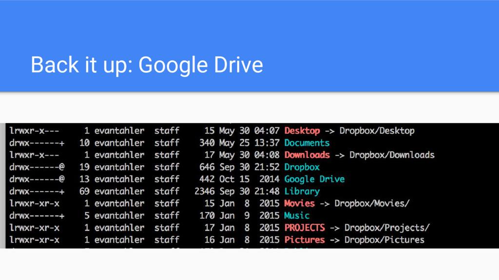 Back it up: Google Drive